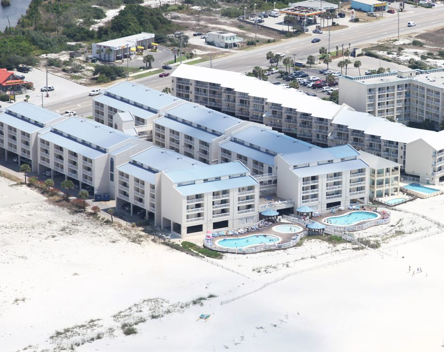 Aerial view of Sugar Beach from the south